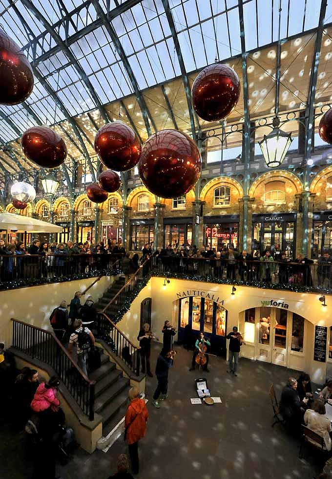 Weihnachten in Covent Garden in London