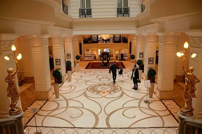 Lobby des Hotels