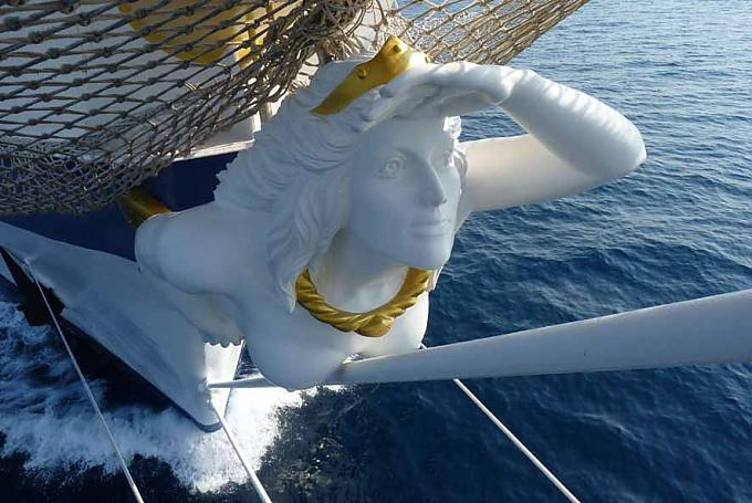 "Galionsfigur der ""Royal Clipper""."