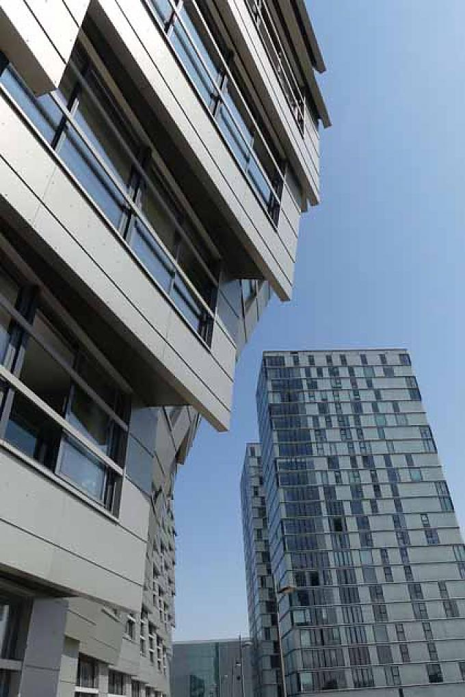 Irritierende Architektur in Almere